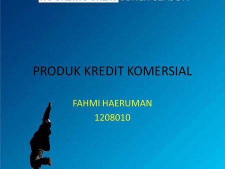 PRODUK KREDIT KOMERSIAL