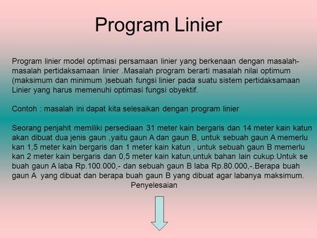 Smart Menjawab Soal Soal Program Linier Ppt Download