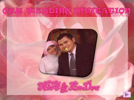our wedding invitation