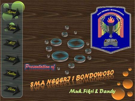 Presentation of SMA NEGERI 1 BONDOWOSO Muh. Fikri & Dandy.