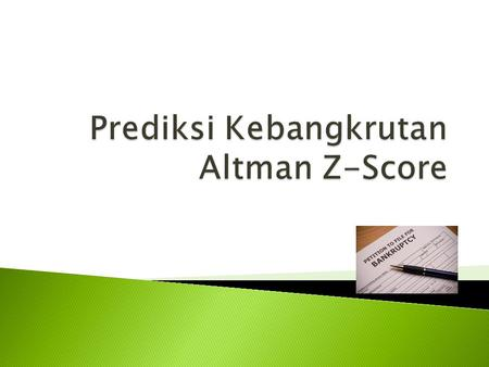  N YU Stern Finance Professor, Edward Altman, developed the Altman Z-score formula in 1967. In 2012, he released an updated version called the Altman.