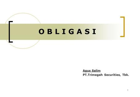 Agus Salim PT.Trimegah Securities, Tbk.