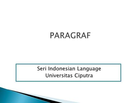 Seri Indonesian Language