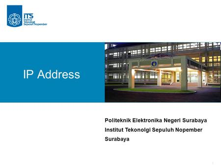 IP Address Politeknik Elektronika Negeri Surabaya