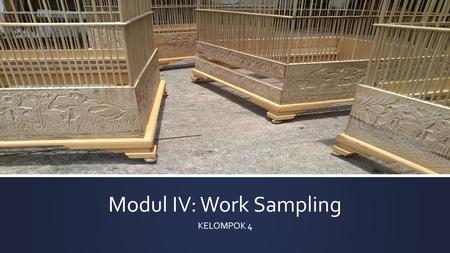 Modul IV: Work Sampling