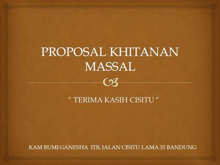 PROPOSAL KHITANAN MASSAL