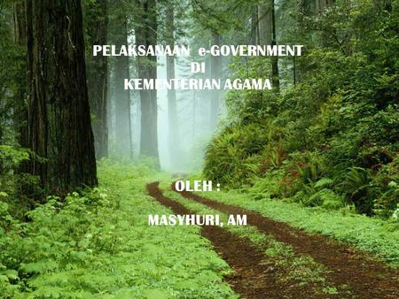 PELAKSANAAN e-GOVERNMENT