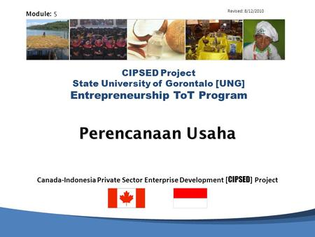 Perencanaan Usaha 5 6-Apr-17 Revised: 8/12/2010