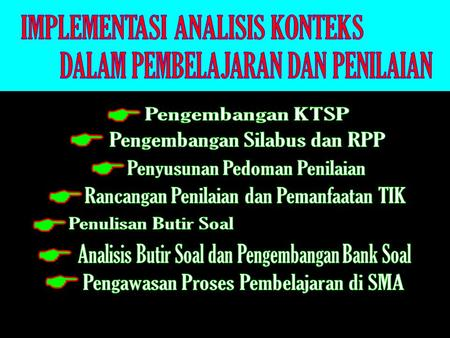 IMPLEMENTASI ANALISIS KONTEKS