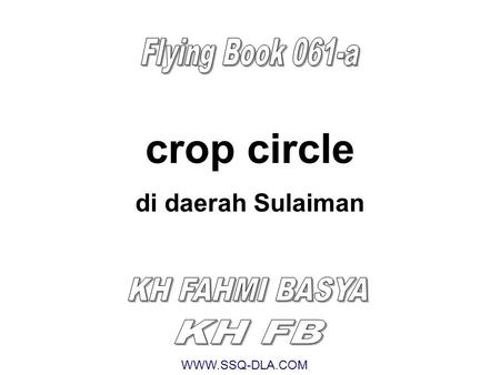 crop circle Flying Book 061-a di daerah Sulaiman KH FAHMI BASYA KH FB