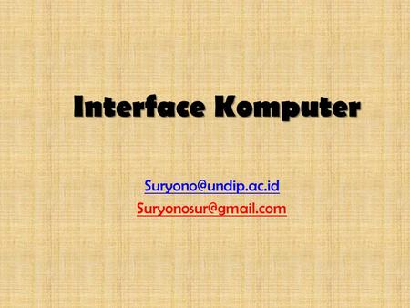 Interface Komputer