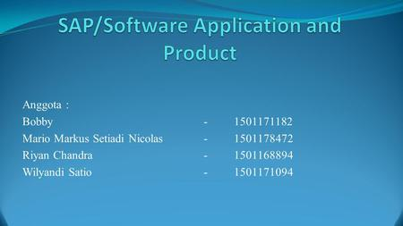 SAP/Software Application and Product