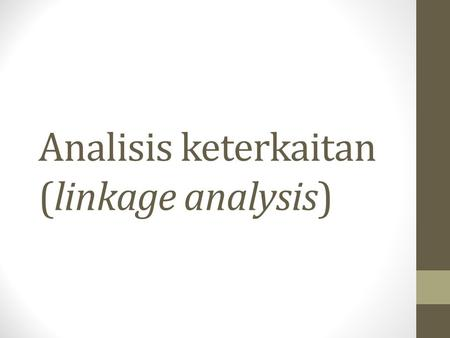 Analisis keterkaitan (linkage analysis). Jenis analisis keterkaitan Backward Linkage Forward Linkage Beberapa aplikasi: Multiplier product matrix (MPM)