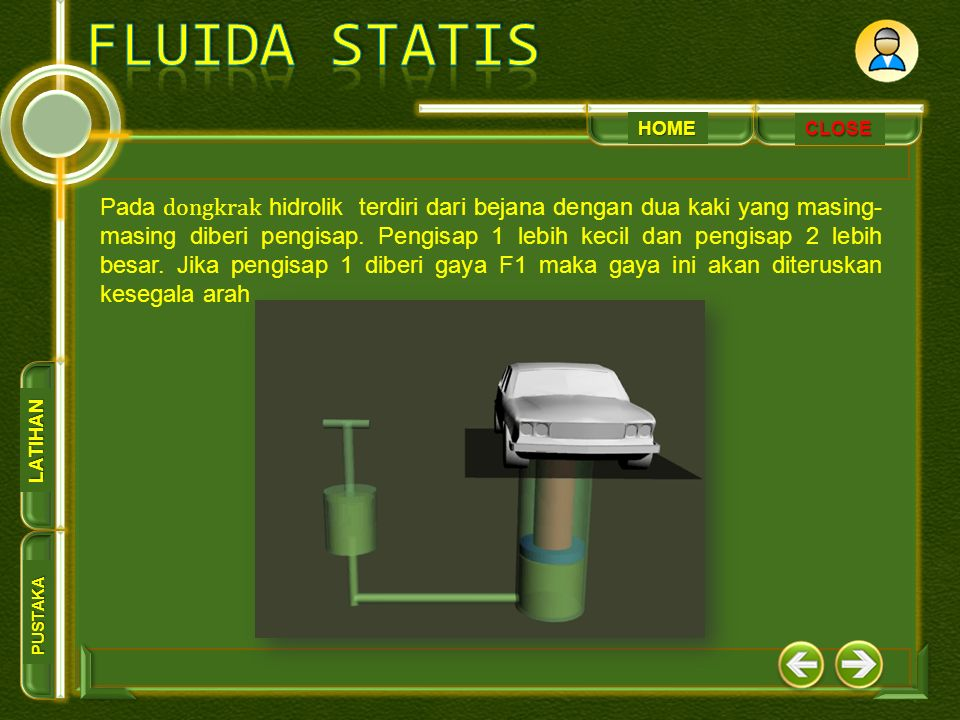 HOME PUSTAKA LATIHAN CLOSE Pada rem hidrolik setiap rem dihubungkan oleh pipa-pipa menuju silinder master.