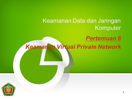 1 Keamanan Data dan Jaringan Komputer Pertemuan 6 Keamanan Virtual Private Network.