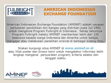 AMERICAN INDONESIAN EXCHANGE FOUNDATION