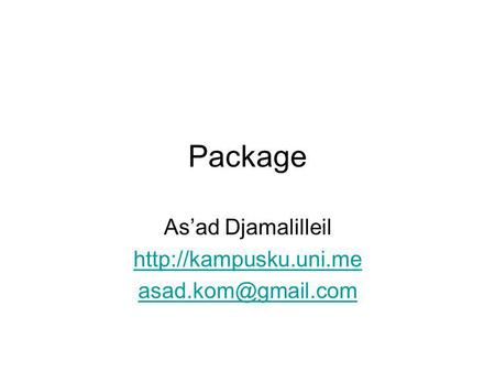 Package As'ad Djamalilleil