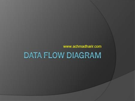 Www.achmadharir.com DATA FLOW DIAGRAM.