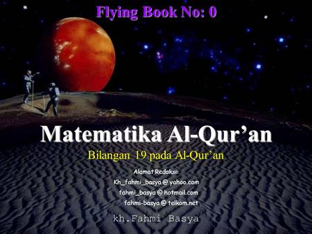 Matematika Al-Qur'an Flying Book No: 0 Bilangan 19 pada Al-Qur'an