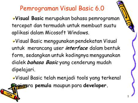 Pemrograman Visual Basic 6.0