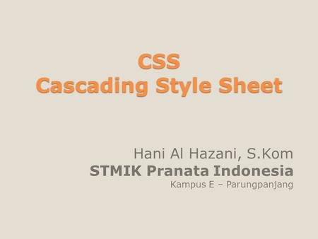 CSS Cascading Style Sheet