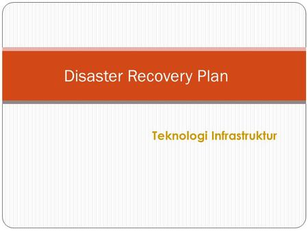 Disaster Recovery Plan