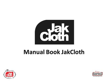 Manual Book JakCloth.