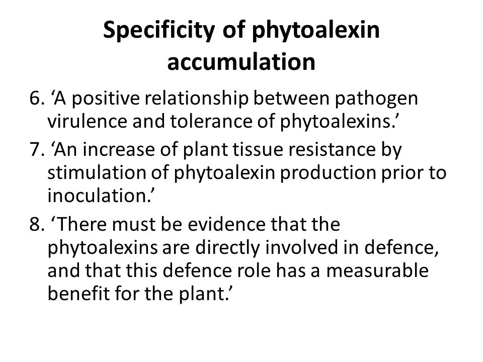 Specificity of phytoalexin accumulation In general, the levels of phytoalexin in the plant tissue are regulated by new synthesis and degradation of secondary metabolites.