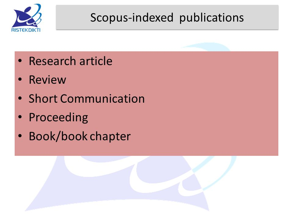 Scopus-indexed publications