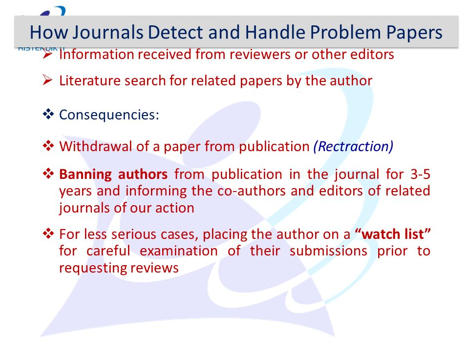 How Journals Detect and Handle Problem Papers