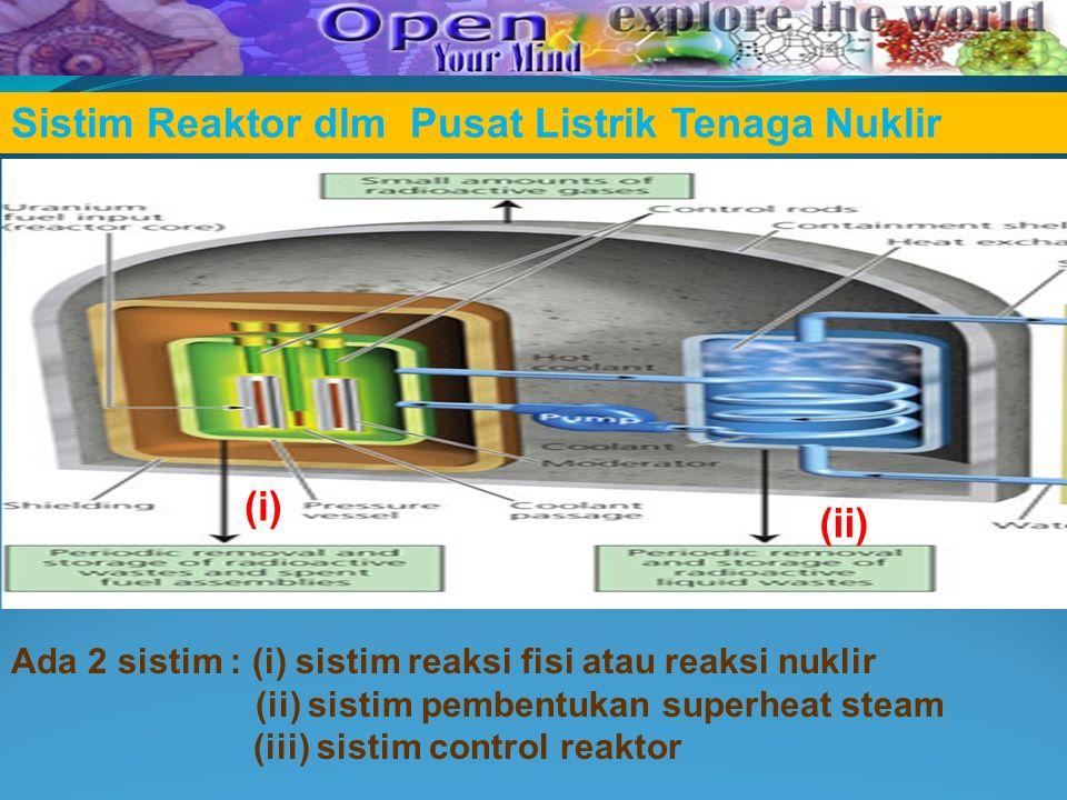 Sistim Reaktor dlm Pusat Listrik Tenaga Nuklir