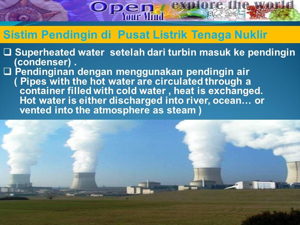 Sistim Pendingin di Pusat Listrik Tenaga Nuklir