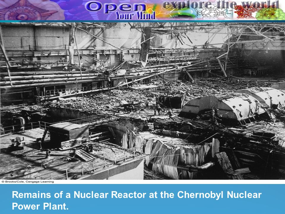 Remains of a Nuclear Reactor at the Chernobyl Nuclear Power Plant.
