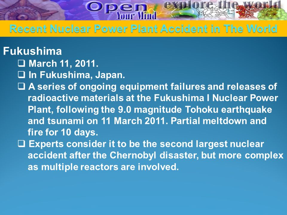 Recent Nuclear Power Plant Accident in The World
