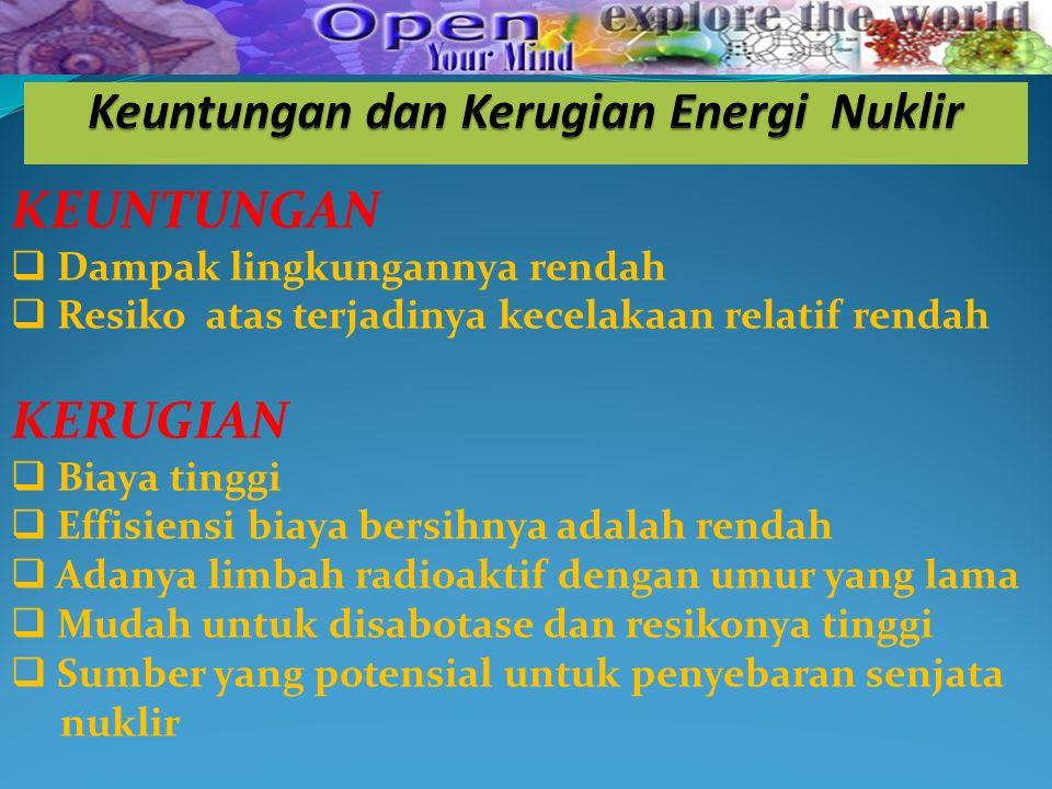 Keuntungan dan Kerugian Energi Nuklir