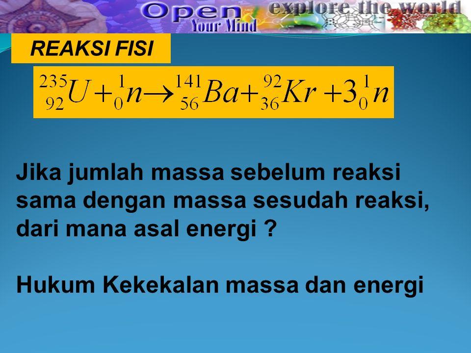 Hukum Kekekalan massa dan energi