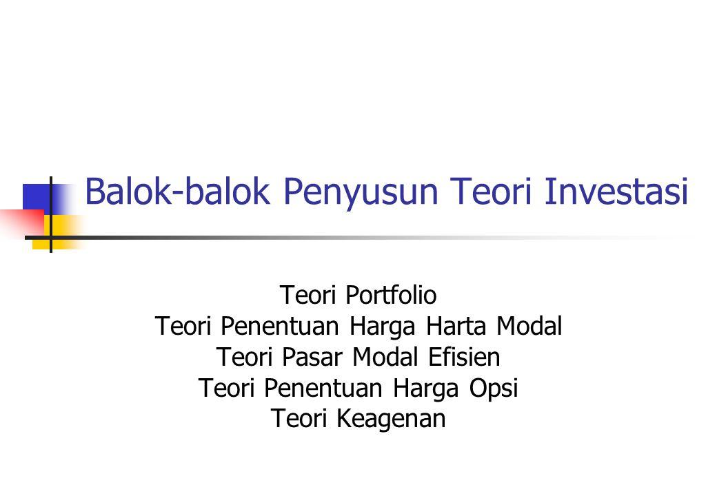 Balok-balok Penyusun Teori Investasi