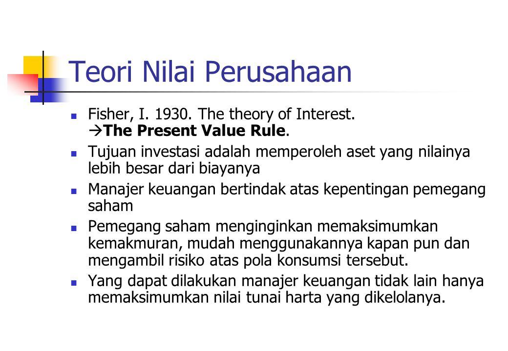 Teori Nilai Perusahaan