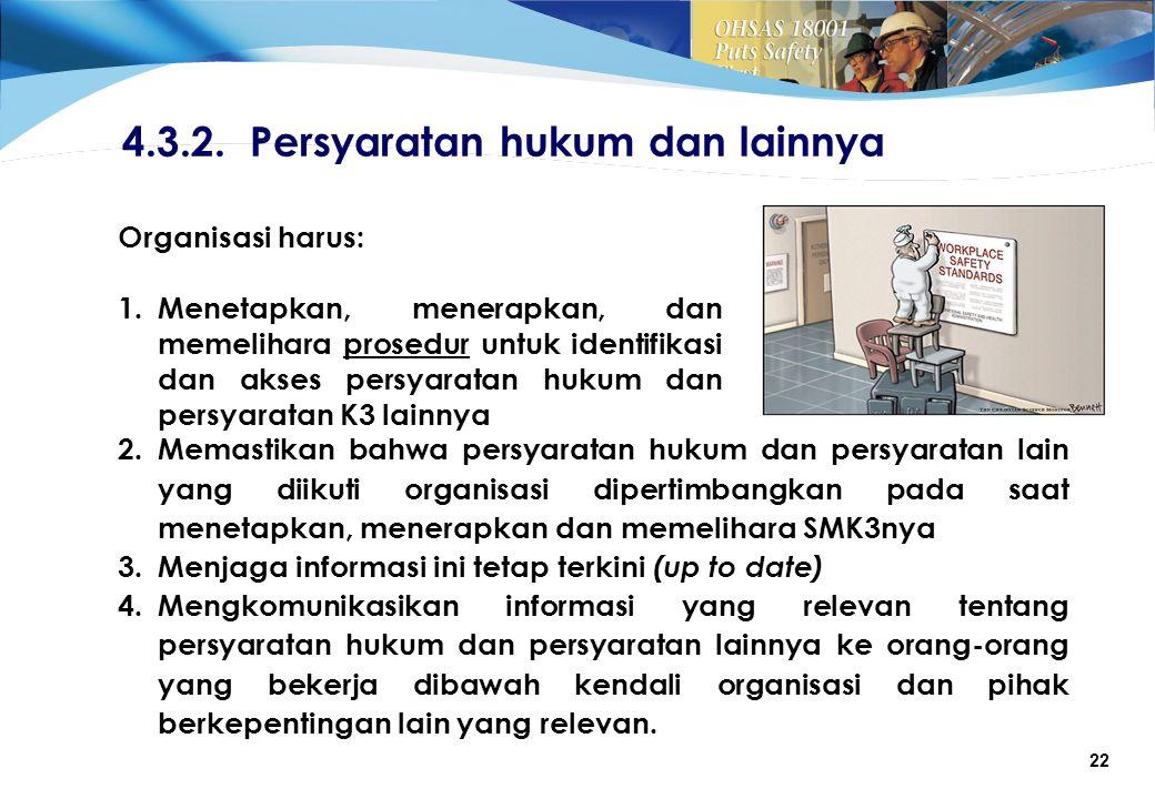 4.3.2. Persyaratan hukum dan lainnya