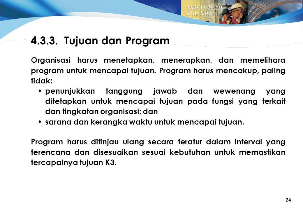 4.3.3. Tujuan dan Program