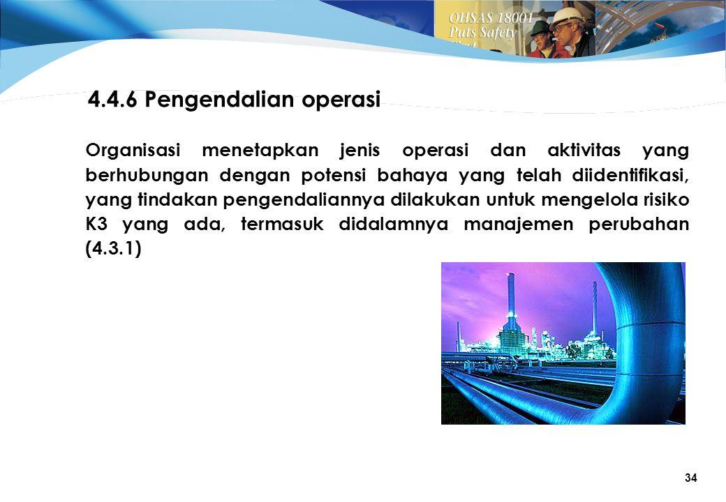 4.4.6 Pengendalian operasi