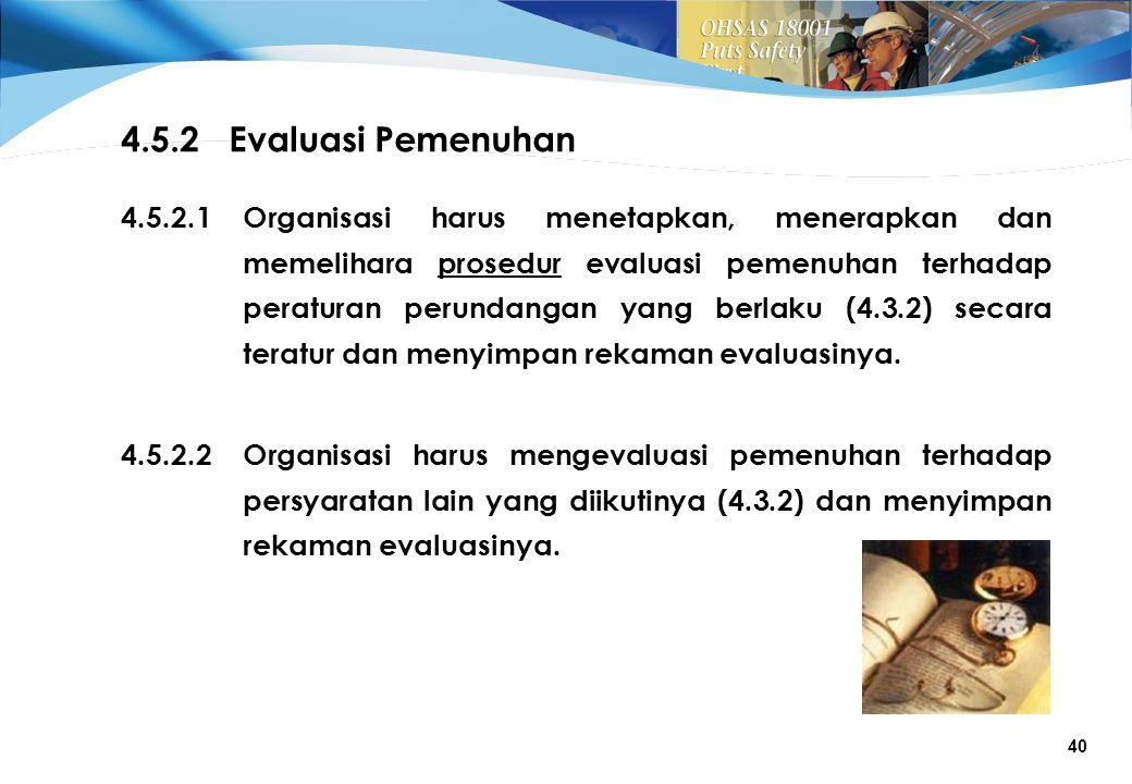4.5.2 Evaluasi Pemenuhan 4.5.2.1.