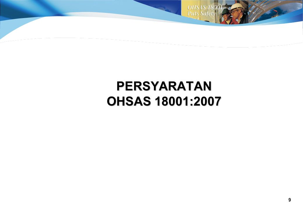 PERSYARATAN OHSAS 18001:2007