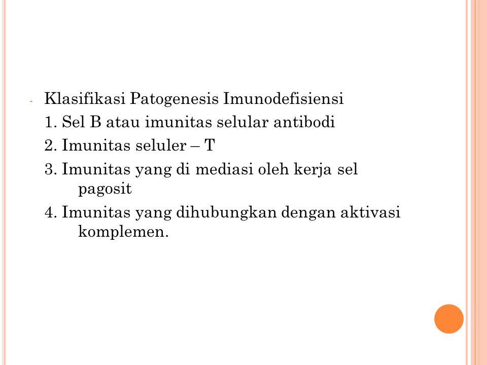 Klasifikasi Patogenesis Imunodefisiensi