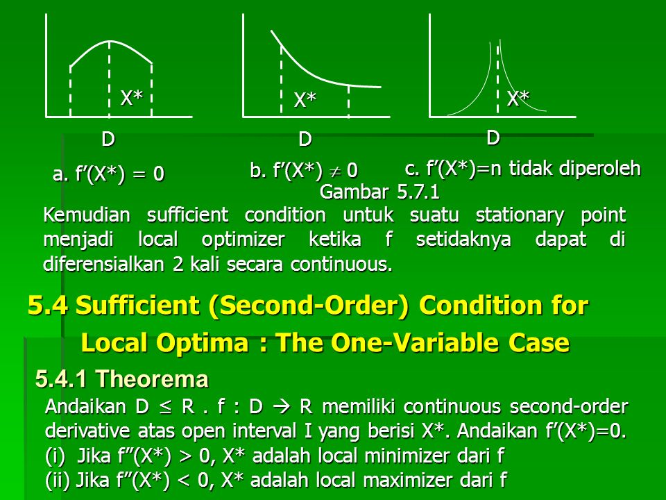 5.4 Sufficient (Second-Order) Condition for