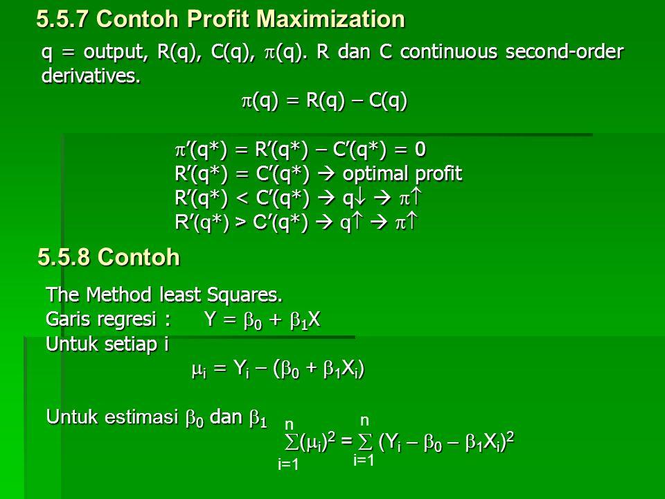 5.5.7 Contoh Profit Maximization