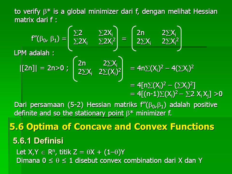 5.6 Optima of Concave and Convex Functions