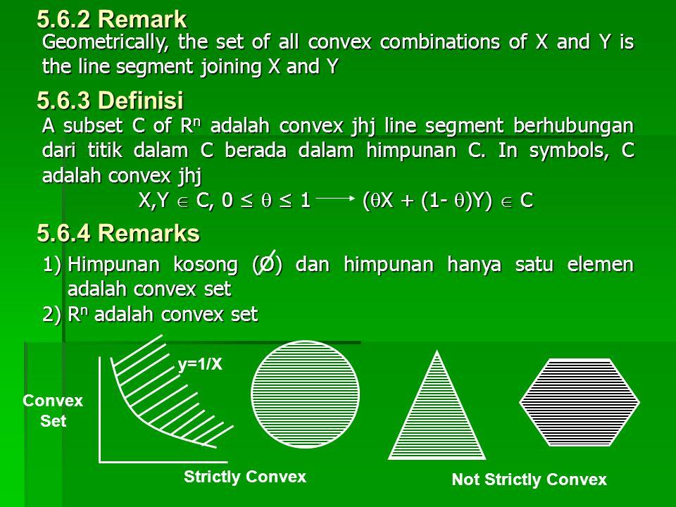 5.6.2 Remark 5.6.3 Definisi 5.6.4 Remarks