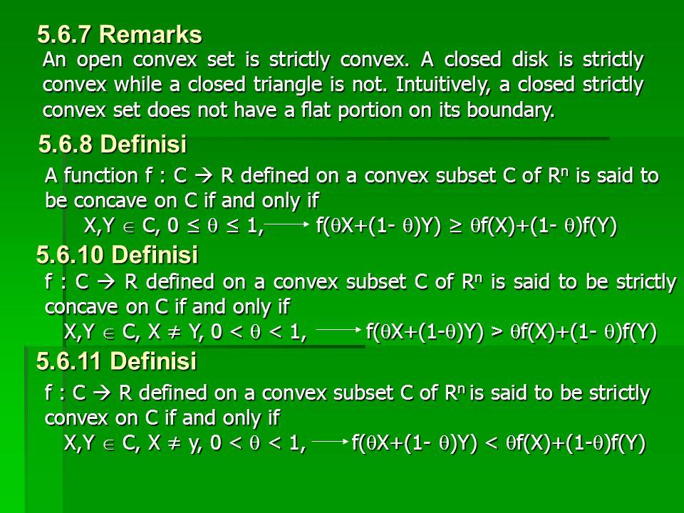 5.6.7 Remarks 5.6.8 Definisi 5.6.10 Definisi 5.6.11 Definisi