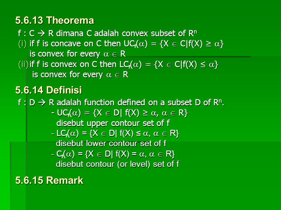 5.6.13 Theorema 5.6.14 Definisi 5.6.15 Remark